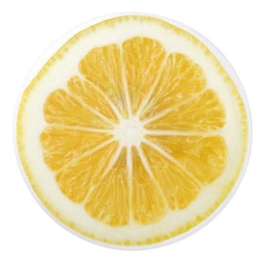 Lemon Slice Kitchen Cabinet Knob Ceramic Knob