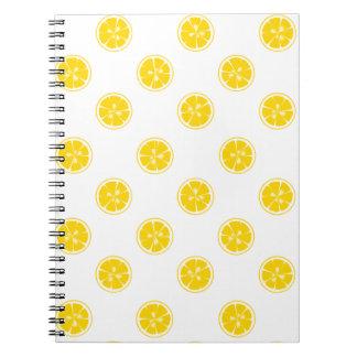 Lemon Slice Pattern Notebook