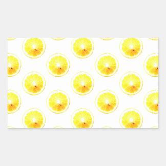 Lemon Slice Polka Dots Sticker