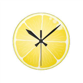 Lemon Slice Round Clock