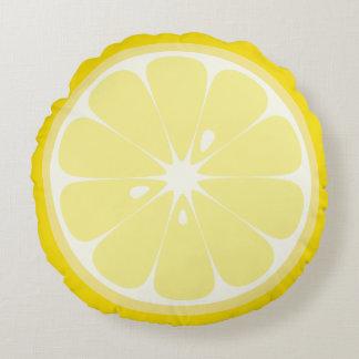 Lemon Slice Round Pillow