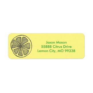 Lemon Slices Address Labels