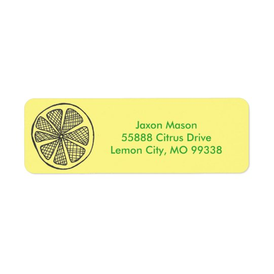 Lemon Slices Address Labels
