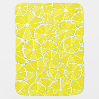Lemon slices baby blanket