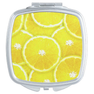 Lemon slices compact mirror