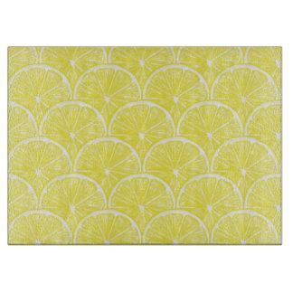 Lemon slices cutting board