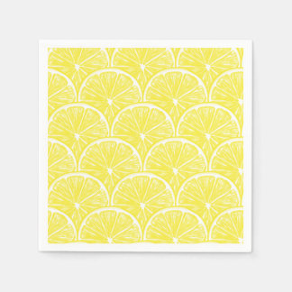 Lemon slices disposable napkins