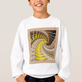Lemon Slices Spiral Staircase with Polka Dot Boots Sweatshirt