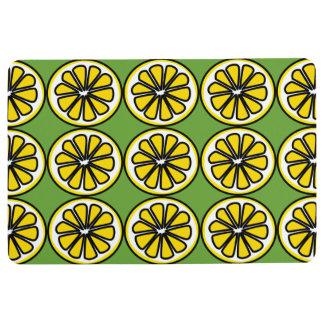 Lemon Slices Yellow Green Kitchen Floor Mat