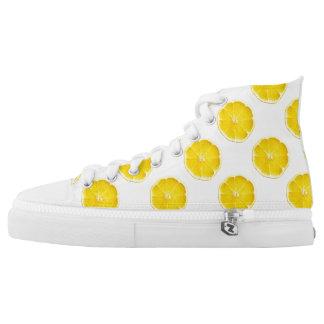 Lemon Slices Zipz High Top Shoes
