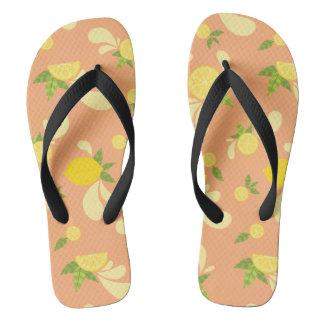 Lemon Splash Flip Flops