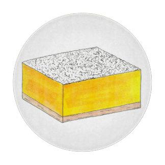 Lemon Square Bar Pastry Dessert Bake Sale Yellow Cutting Board