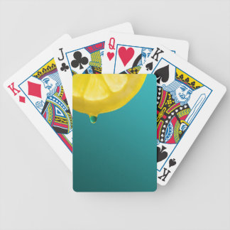 Lemon Squeeze Bicycle Playing Cards