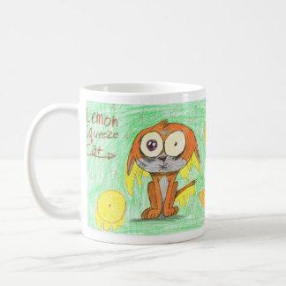 Lemon Squeeze Cat Coffee Mug