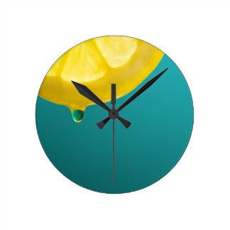 Lemon Squeeze Round Clock