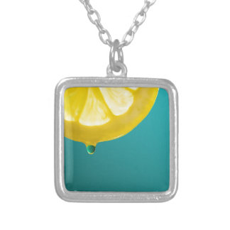 Lemon Squeeze Silver Plated Necklace