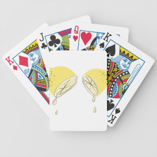 Lemon Squeezed Bicycle Playing Cards