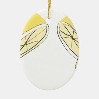 Lemon Squeezed Ceramic Ornament