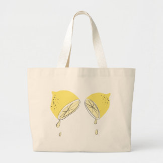 Lemon Squeezed Large Tote Bag