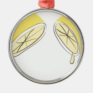 Lemon Squeezed Metal Ornament
