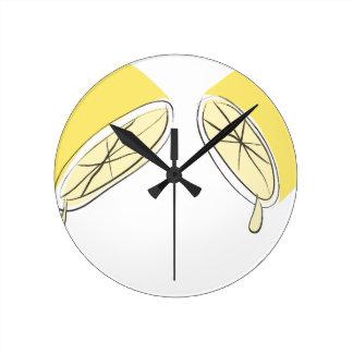 Lemon Squeezed Round Clock