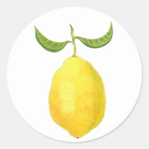 Lemon Sticker