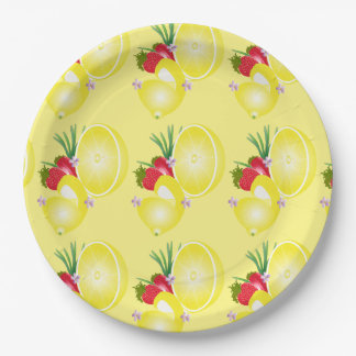 Lemon & Strawberry Paper Plate