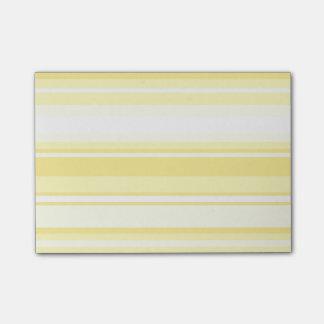 Lemon stripes post-it notes
