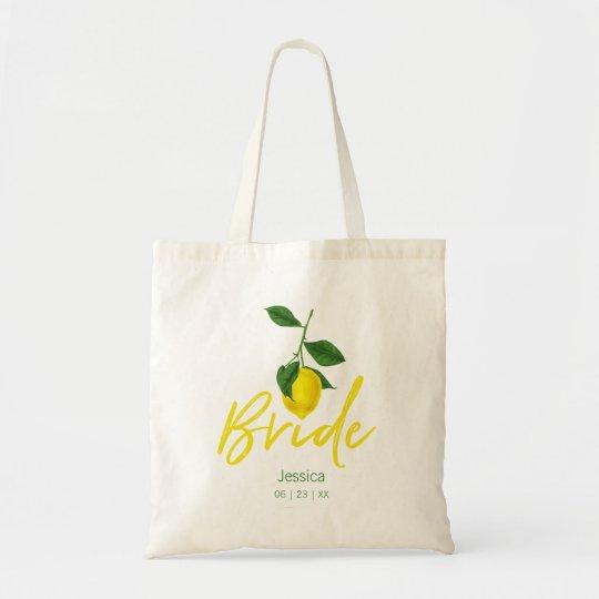 Lemon Summer | Bride Tote