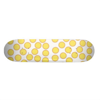 Lemon Tart Pattern Sunny Yellow Skateboard Deck