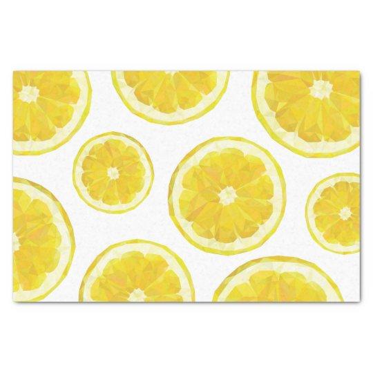Lemon tissue paper, yellow fresh fruit slice tissue paper