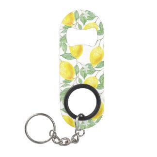 Lemon Tree Pattern Keychain Bottle Opener