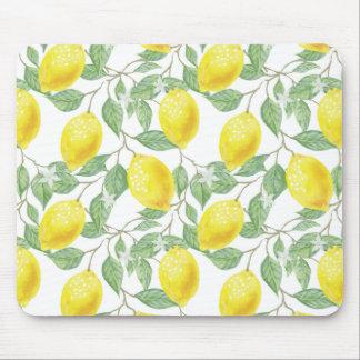Lemon Tree Pattern Mouse Pad