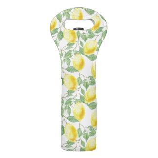 Lemon Tree Pattern Wine Bag