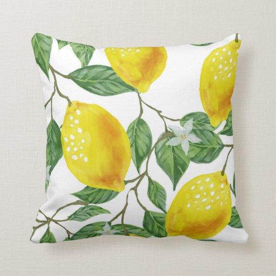 LEMON TREE PILLOW, Yellow & Green Throw Pillow