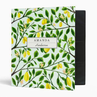 Lemon Tree Print Custom Binder