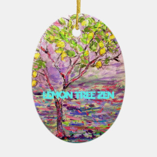 Lemon Tree Zen Ceramic Ornament