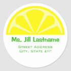Lemon Wedge Address Label Sticker