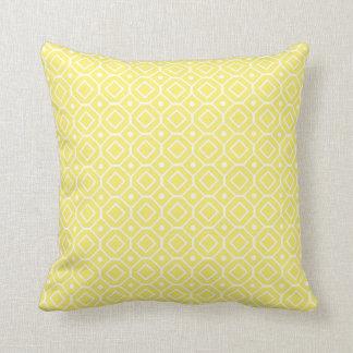 Lemon White Geometric Pattern Decorative Pillow
