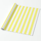 Lemon Yellow and White Bold Stripes Wrapping Paper