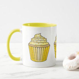 Lemon Yellow Buttercream Frosting Cupcake Cake Mug