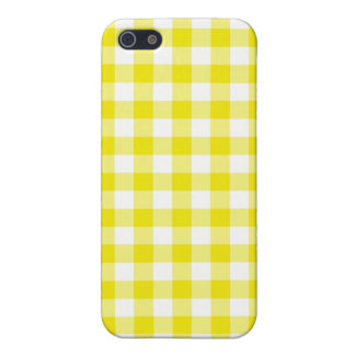 Lemon Yellow Check Gingham iPhone 5/5s Case