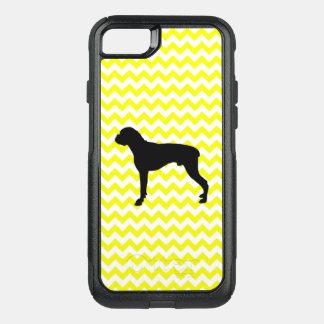Lemon Yellow Chevron With Boxer OtterBox Commuter iPhone 8/7 Case
