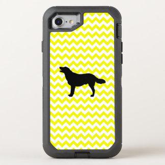 Lemon Yellow Chevron With Golden Silhouette OtterBox Defender iPhone 8/7 Case