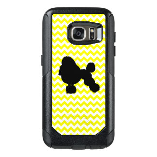 Lemon Yellow Chevron With Poodle OtterBox Samsung Galaxy S7 Case