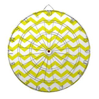 Lemon Yellow Chevrons Dartboard