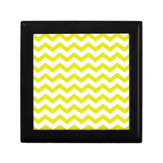 Lemon Yellow Chevrons Gift Box