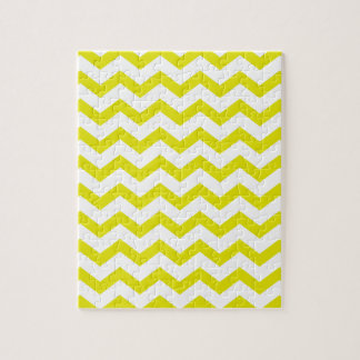 Lemon Yellow Chevrons Jigsaw Puzzle