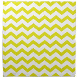 Lemon Yellow Chevrons Napkin