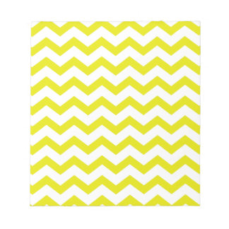Lemon Yellow Chevrons Notepad